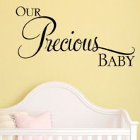 Our Precious Baby ~ Wall sticker / decals